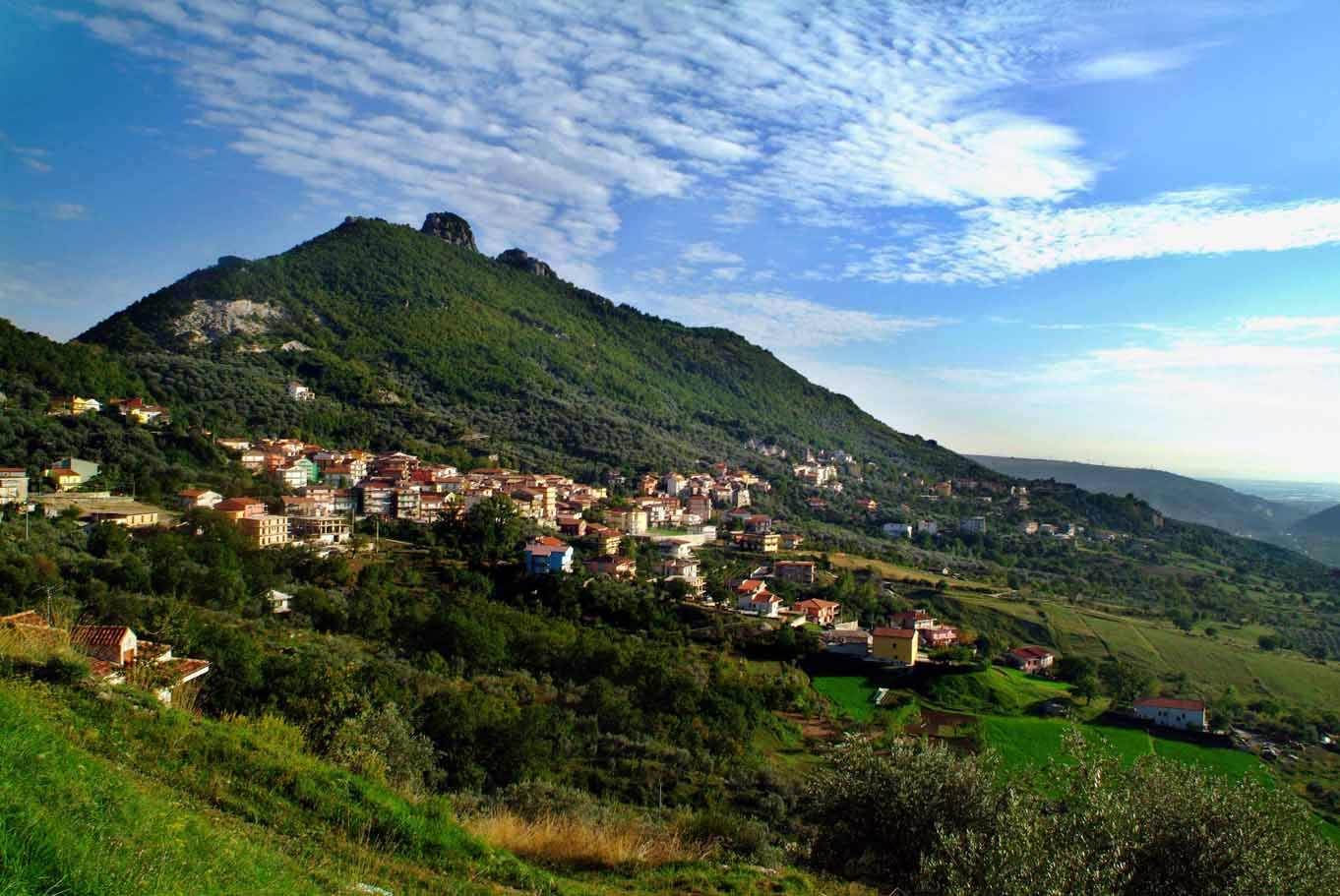 .  Olevano is just inland of the Amalfi Coast.